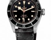 Introducing the Replica Tudor Heritage Black Bay Black Leather Black Dial Watch Ref. 7922