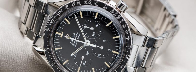 One Of The Last Replica Omega Speedmaster Professional Black Dial Steel Watches ref.145.012