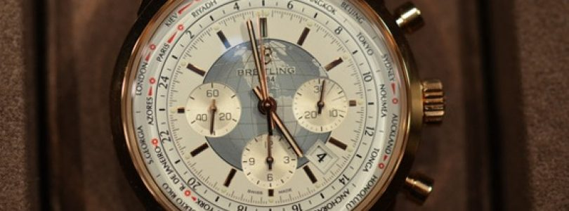 The breitling transocean chronograph unitime replica rose gold watch cheap sale