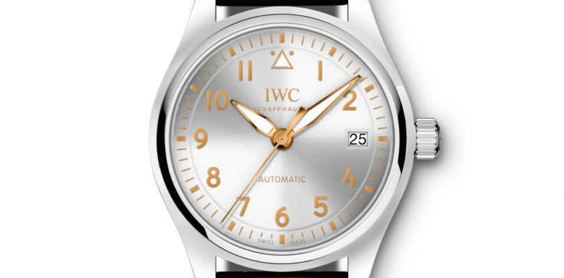 Best Replica IWC Pilot's Watches Silver Dial Leather Strap Watch For Sale
