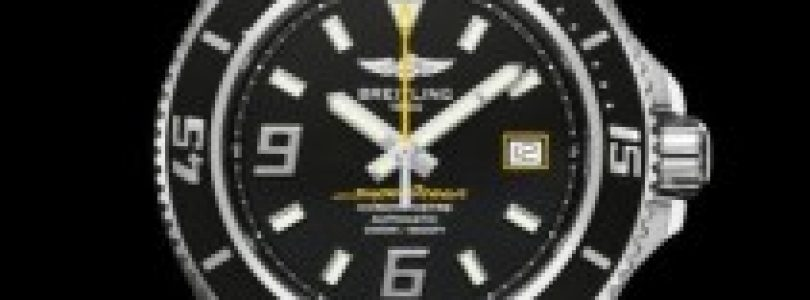 hot sale breitling superocean 44 replica black dial steel watch