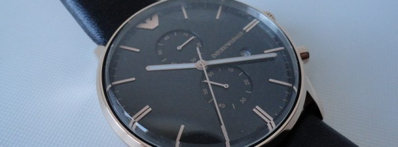 Best Replica Armani Classic Black Dial Leather Strap Watches