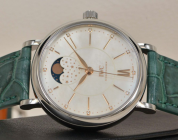Replica IWC Portofino Moonphase Low-key Luxury Charm White Dial Steel Watch