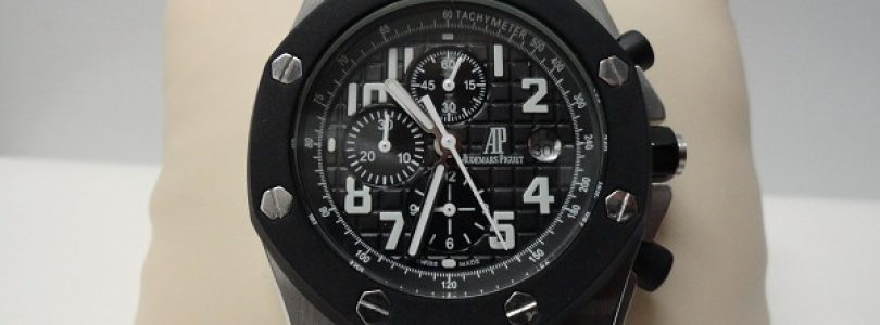 Fake Audemars Piguet Royal Oak Offshore Black Dial Black Rubber Watch