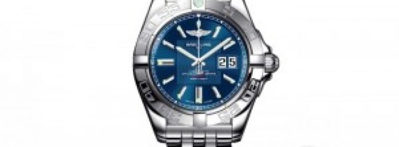 Three Breitling galactic blue dial steel replica watches recommend