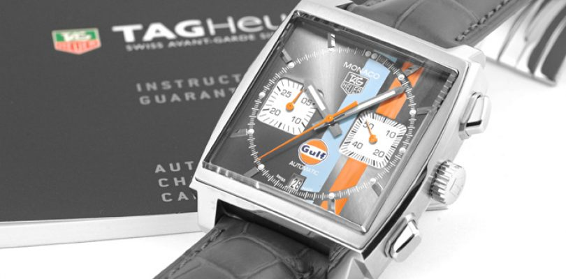 tag heuer monaco calibre 12 gulf limited edition replica watch