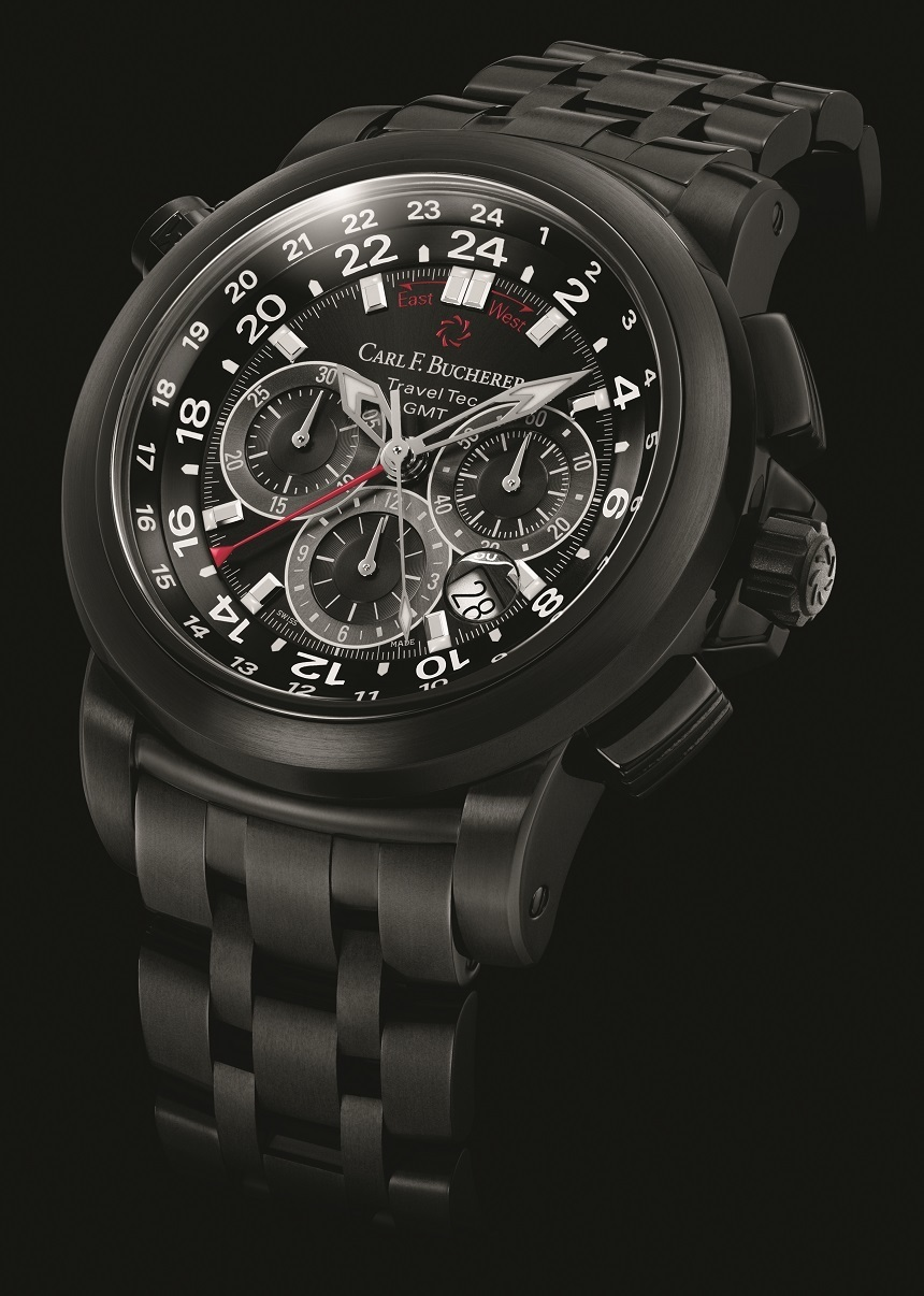 Carl F. Bucherer Patravi TravelTec In Black Watch Watch Releases