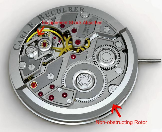 The Techy & Innovative Automatic Caliber CFB A1000 Watch Movement From Carl F. Bucherer History Replica Watch Releases