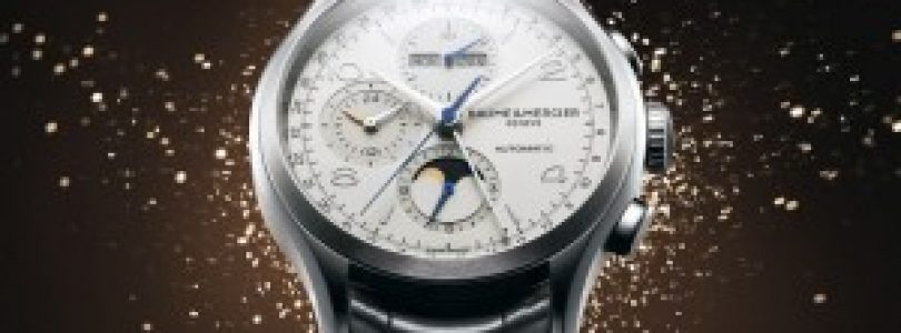 Cheap Replica Baume & Mercier Clifton Chronograph Complete Calendar White Dial Steel Watch