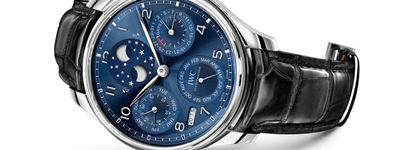 Fake IWC Portuguese Chronograph Blue Dial Watches For Sale