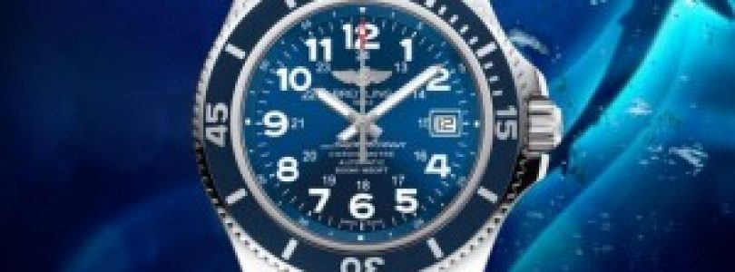 replica breitling superocean ii 42 blue dial steel watch for sale