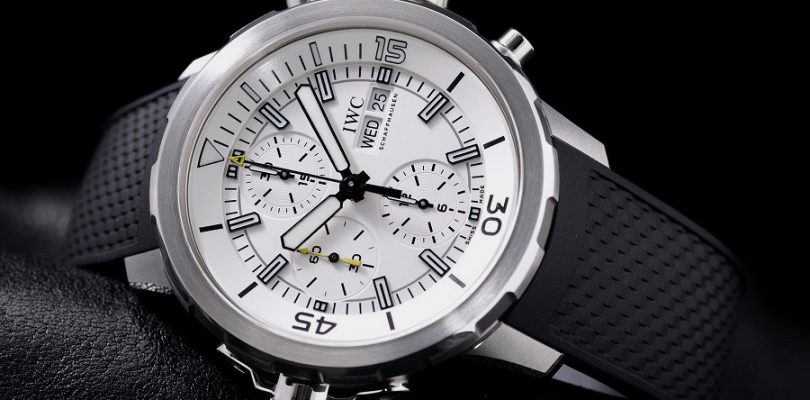 Fake Swiss Watches IWC Aquatimer White Dial Rubber Watch For Sale