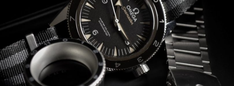 seamaster 300 spectre limited edition black dial automatic nato men's watch