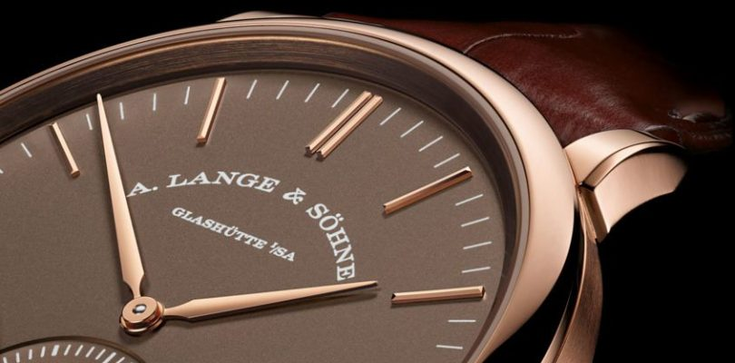 A. Lange & Söhne Saxonia Automatic in Terra Brown