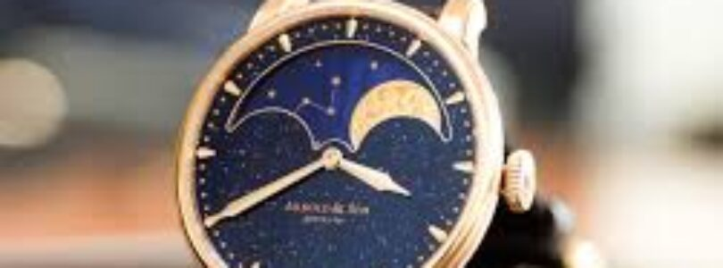 "Arnold & Son on Twitter: ""The result of a traditional and artisanal craft,  the HM Perpetual Moon Aventurine's mineral glass dial provides a unique  sparkle that perfectly matches our precise and oversized"